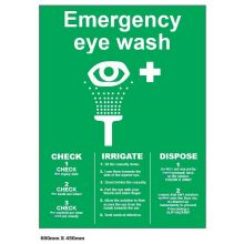 Dependable Emergency Eye Wash Check List Signs