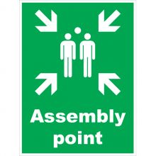 Dependable Assembly Point Signs Portrait