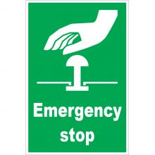 Dependable Emergency Stop Button Signs