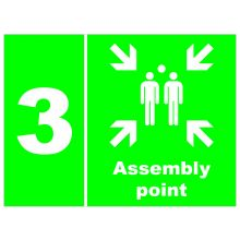Dependable Assembly Point 3 Signs