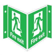 Dependable Fire Exit Projecting '3D' Signs