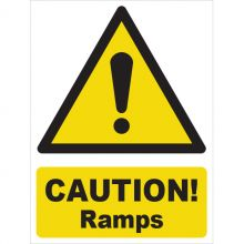 Dependable Caution! Ramp Signs