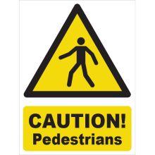 Dependable Caution! Pedestrians Signs