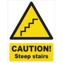 Dependable Caution! Steep Stairs Signs
