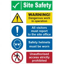 Dependable Site Safety Warning Signs