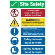Dependable Unauthorised Entry to Site is Prohibited Signs