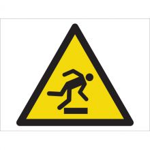Dependable Caution! Mind The Step Symbol Signs
