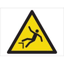 Dependable Caution! Fall Hazard Symbol Signs
