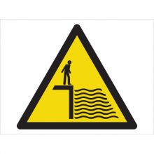 Dependable Caution! Deep Water Symbol Signs