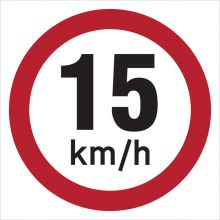 Dependable 15KMH Signs