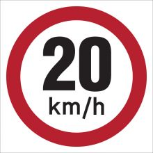 Dependable 20KMH Signs