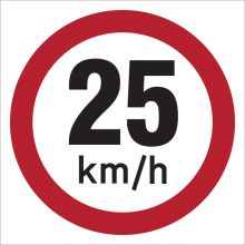 Dependable 25KMH Signs