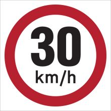Dependable 30KMH Signs