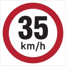 Dependable 35KMH Signs