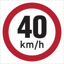 Dependable 40KMH Signs