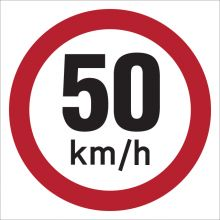 Dependable 50KMH Signs