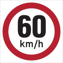 Dependable 60KMH Signs