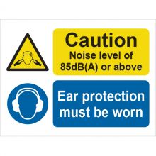 Dependable Caution Noise Level Ear Protection Signs