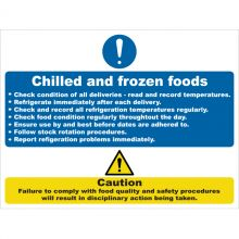 Dependable Chilled & Frozen Foods Signs