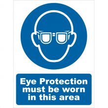 Dependable Eye Protection Must Be Worn Signs