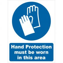 Dependable Hand Protection Must Be Worn Signs