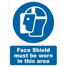 Dependable Face Shield Must Be Worn Signs