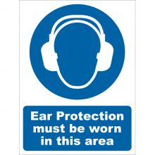 Dependable Ear Protection Must Be Worn Signs