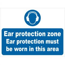 Dependable Ear Protection Zone Signs