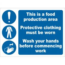 Dependable Food Production Area Signs