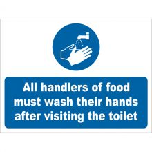 Dependable All Handlers of Food Must Wash Hands Signs