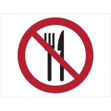 Dependable Eating Prohibited Symbol Signs