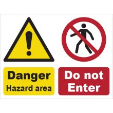 Dependable Hazard Area & Do Not Enter Signs
