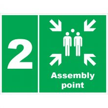 Dependable Assembly Point 2 Signs