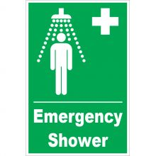Dependable Emergency Shower Signs