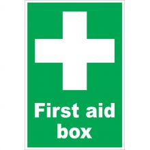 Dependable First Aid Box Signs