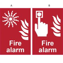 Dependable Fire Alarm Information Signs