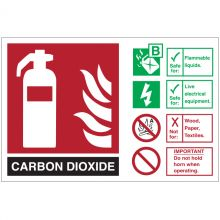 Dependable Fire Safety Signs Carbon Dioxide