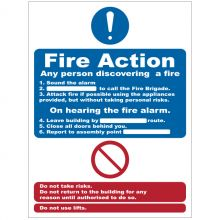 Dependable Fire Action Signs
