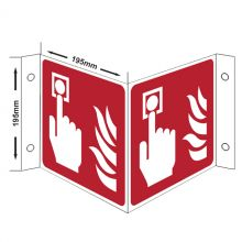 Dependable Emergency Button Fire Information Sign