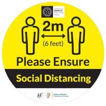 COVID-19 Social Distancing Floor Label