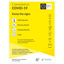 COVID-19 Know The Signs Sign