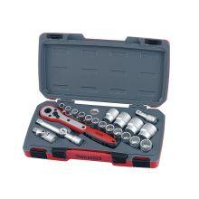 """Teng Tools 21 Piece 1/2"""" Drive Metric Socket Set"""