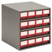 Treston Larger Parts Storage Cabinets Red