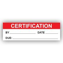 PremPak Write-On Labels - Certification