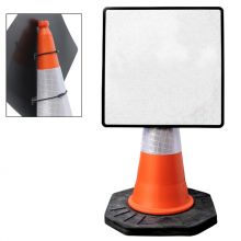 Dependable Cone Mountable Diamond Signs - Reflective White
