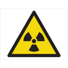 Dependable Warning! Radioactive Material Symbol Signs