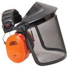 JSP Bushmaster Ear Defender & Wire Mesh Visor