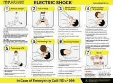 Dependable Electric Shock Guide Signs