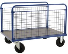 Kongamek Platform Truck with 2 Long Mesh Sides