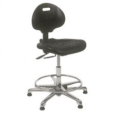 KDM ESD-Safe Cleanroom Chair Class 1K with Glides and Footring